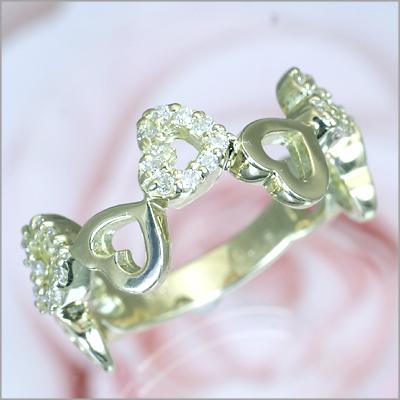 世界5大ジュエラーと同等のダイヤ品質 返品保証 クーポン5%OFF K18イエローゴールド ダイヤ ハートピンキーリング記念日 誕生日 ジュエリー 2020A/W新作送料無料 指輪 ダイア 春の新作シューズ満載