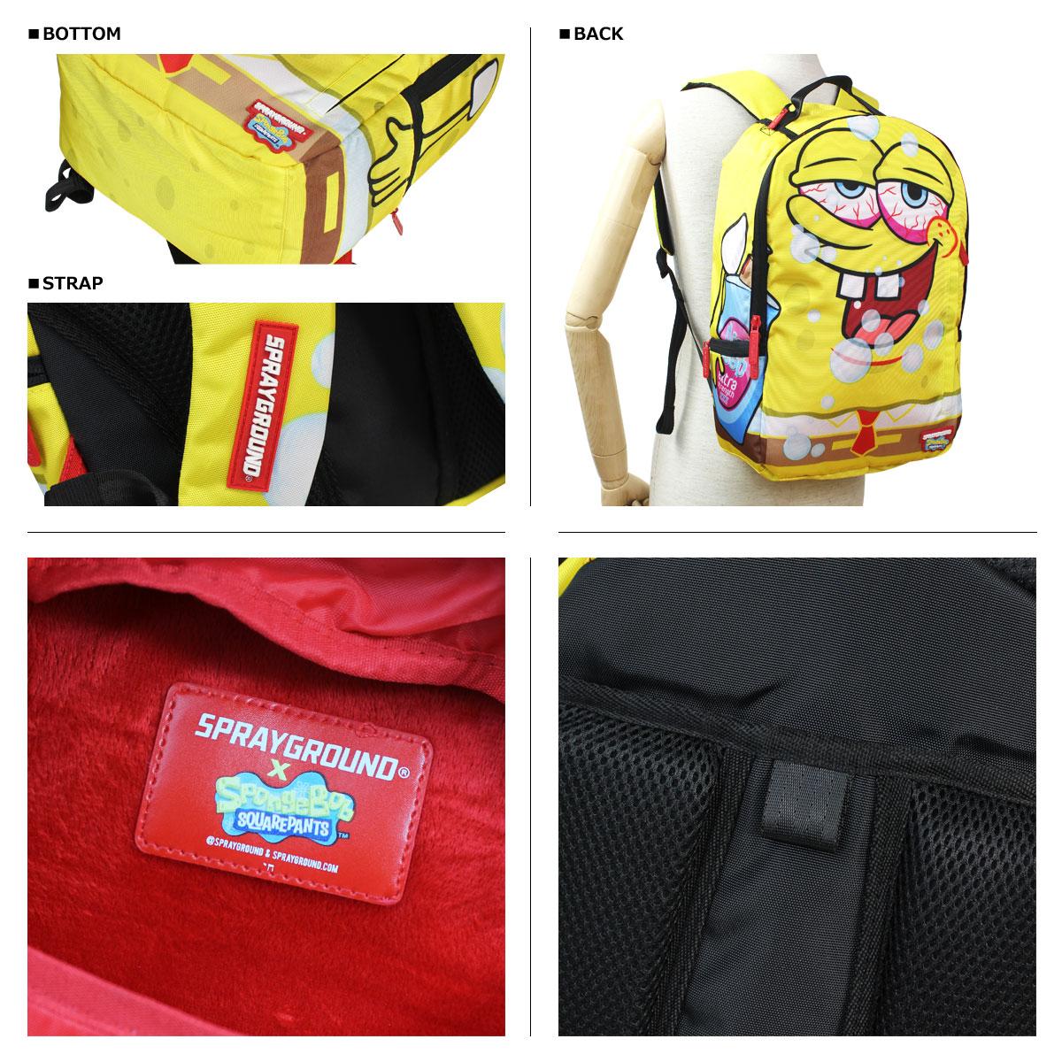 [SOLD OUT]噴霧器運動場SPRAY GROUND背包帆布背包B472 SPONGEBOB PARTYPANTS人分歧D