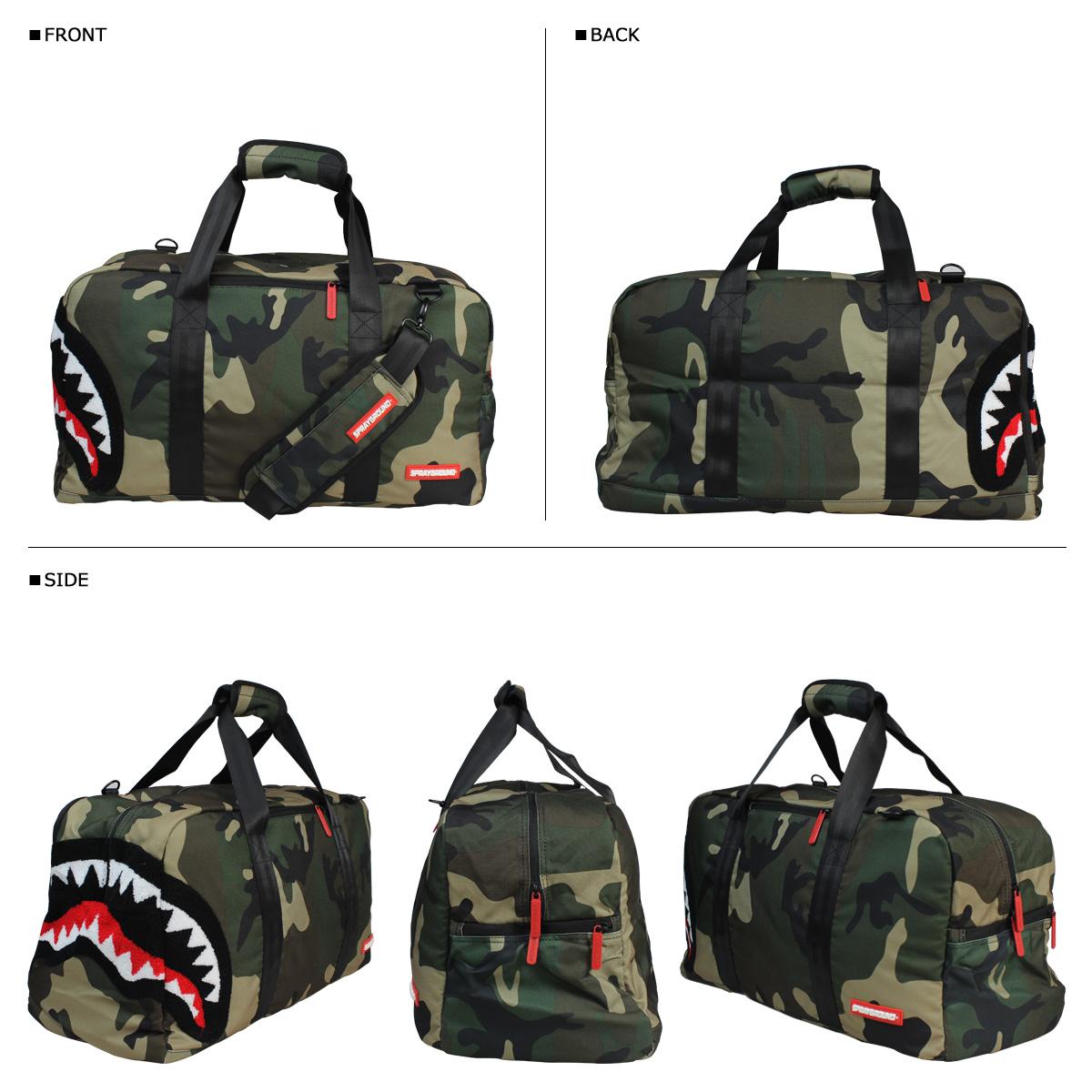 噴霧地面噴霧地面行李袋 LD079 雪尼爾林地鯊魚粗呢男人女人