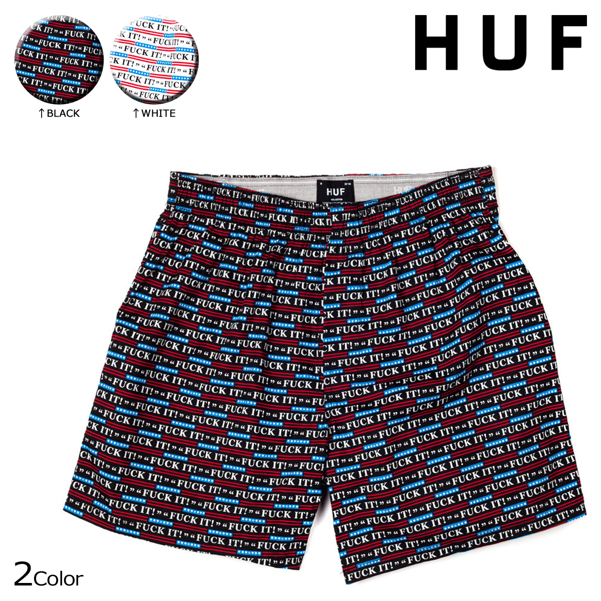 Hough HUF mens Boxer shorts underwear trunks FUCK IT BOXER [8/21 new in stock]