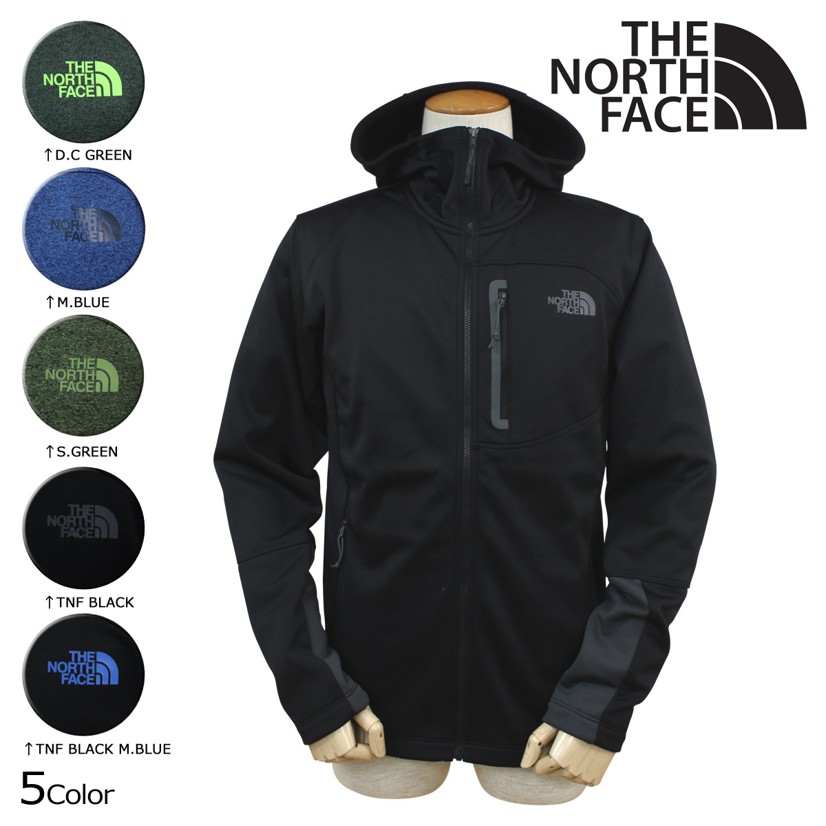 2abde4488 Point 5 x north face THE NORTH FACE mens jacket fleece jacket CUF9 5 color  MEN's CANYONLANDS HOODIE [10/21 new in stock]