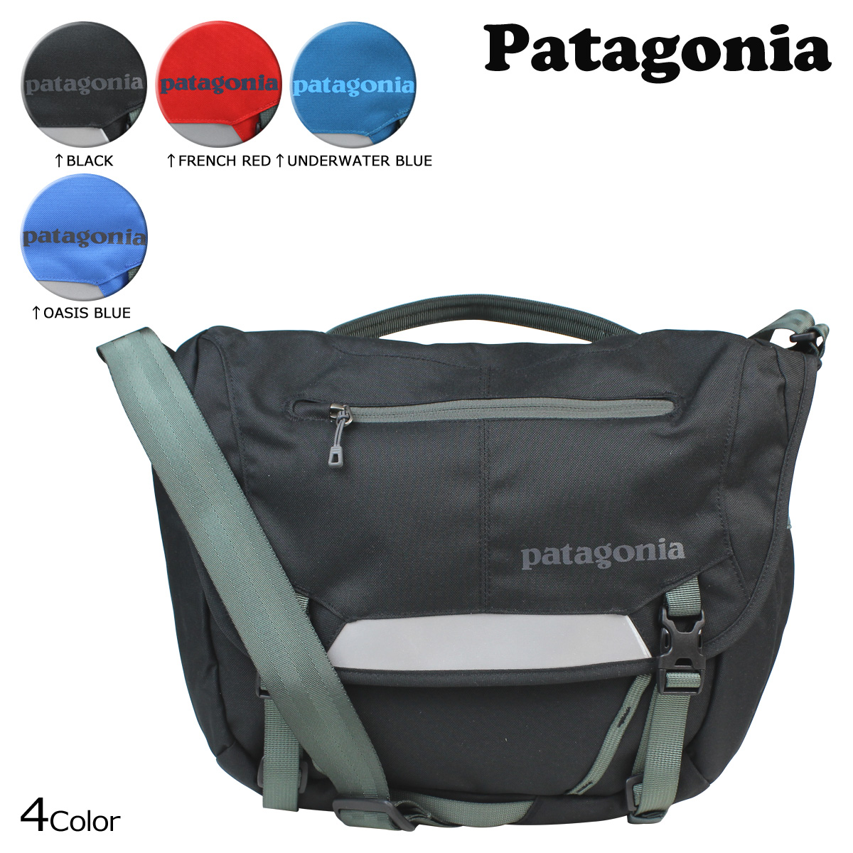 a2a209c3a9b Patagonia patagonia Messenger Bag Black Blue 48267 MiniMass 12 l tanks men  women