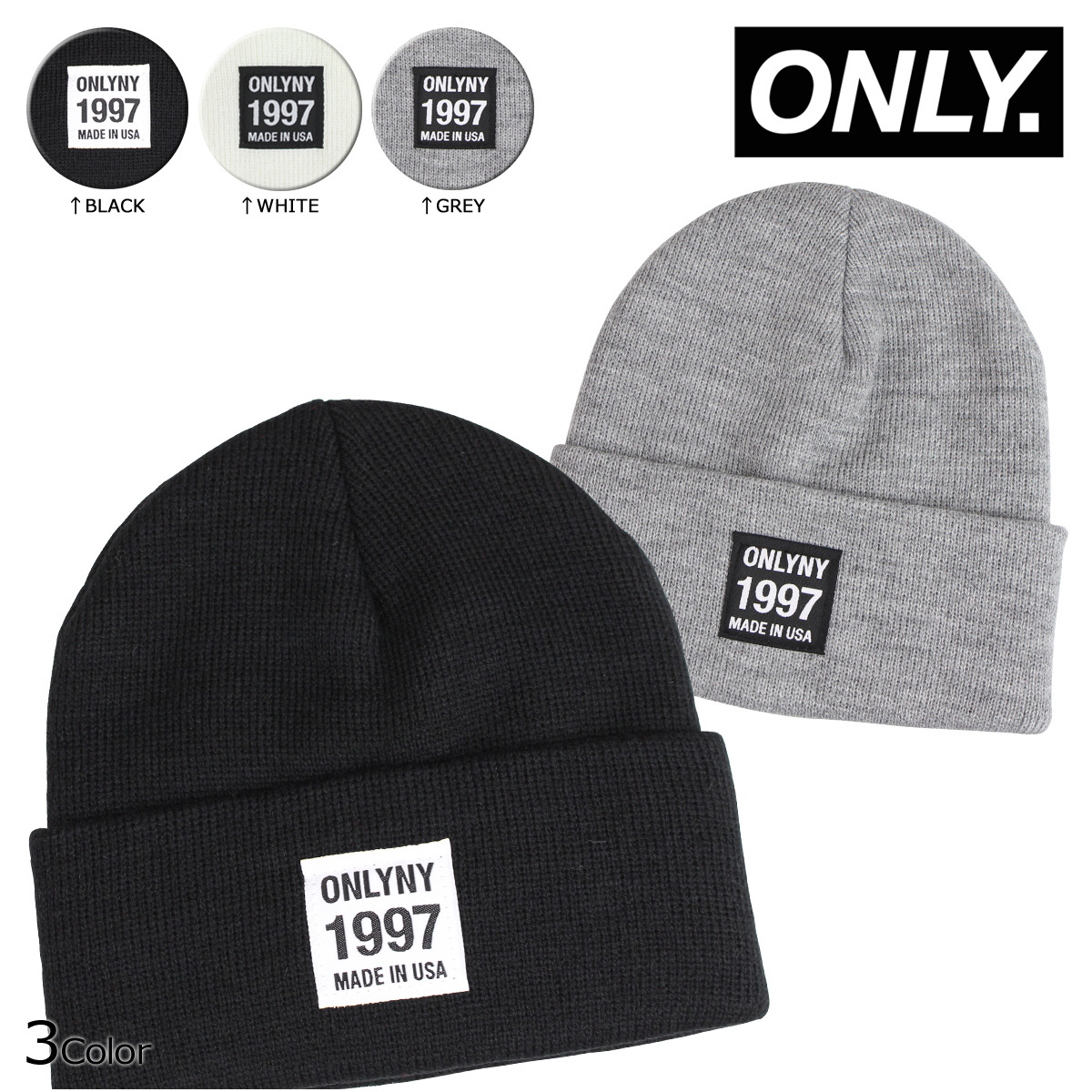 173d5dce0f9 ALLSPORTS  ONLY NY New York only men s knit hat Beanie knit Cap 3 color  TRANSFER BEANIE  12   10 new in stock