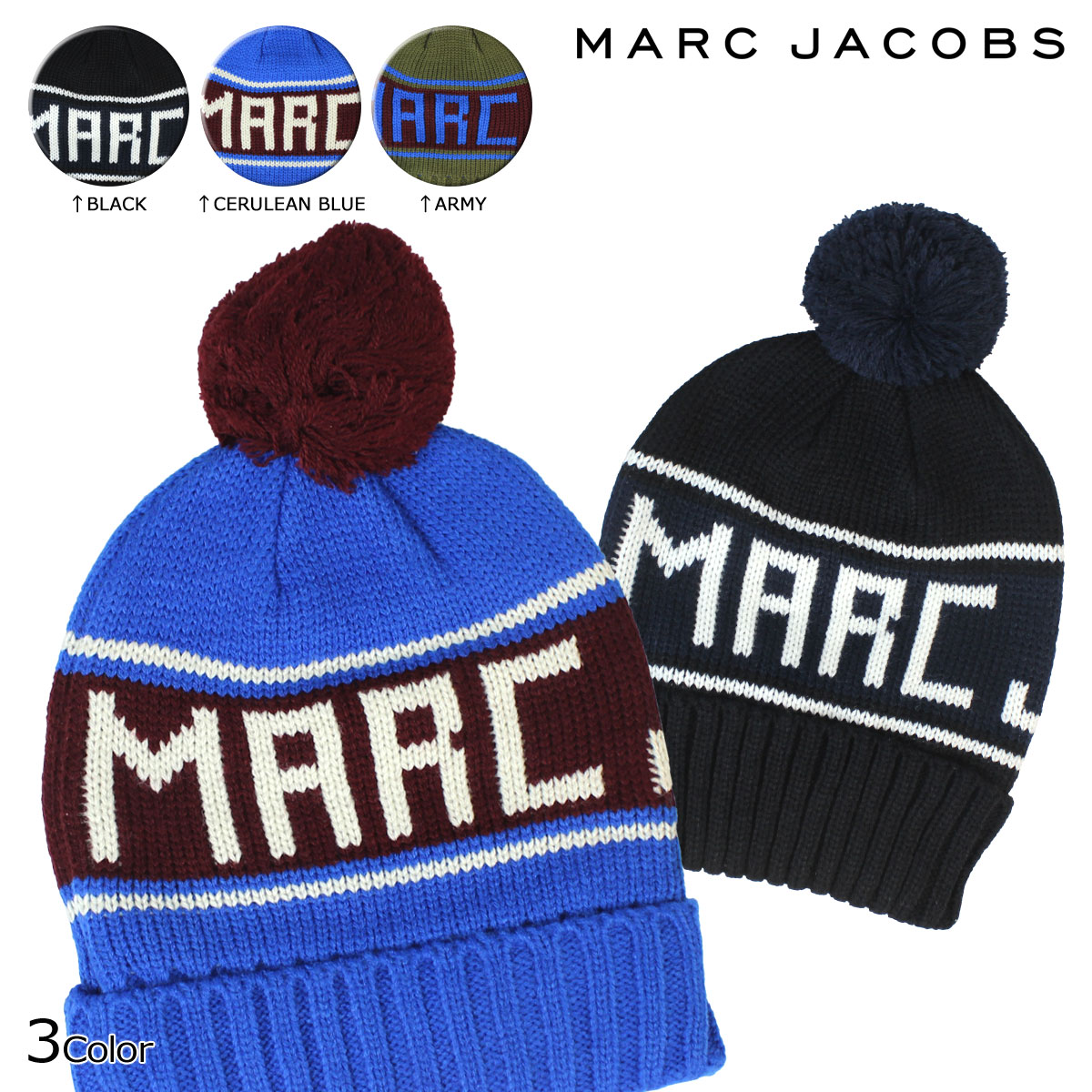 6d07152898d ALLSPORTS  MARC BY MARC JACOBS mark by mark Jacobs knit hat beanie knit cap  3 color F14 ACRYLIC SKI HAT men gap Dis