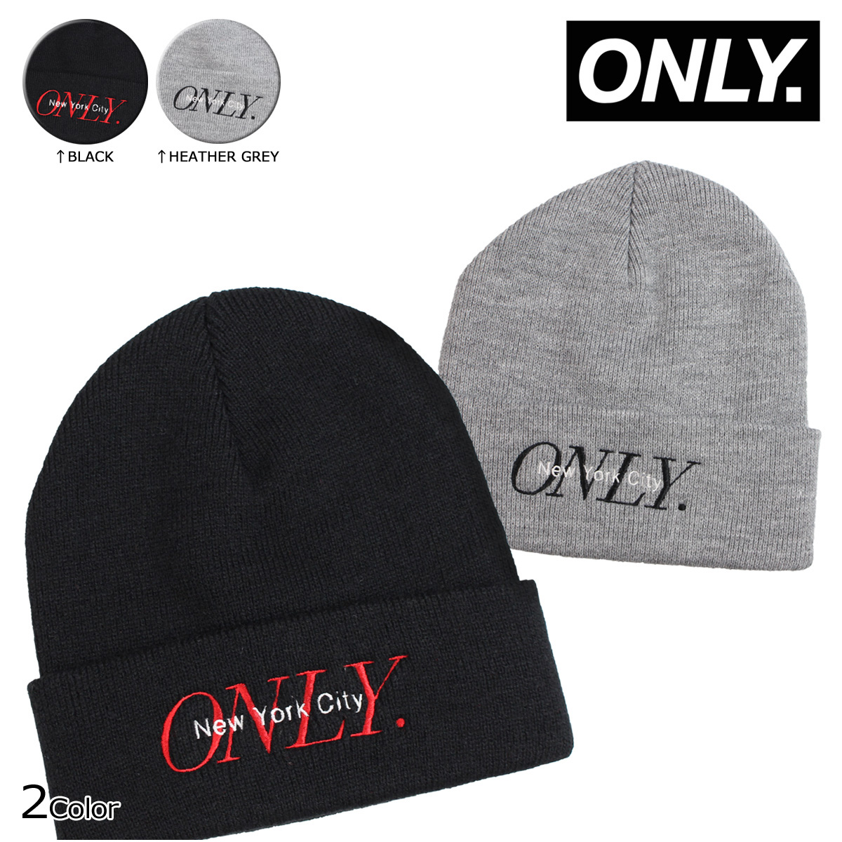 ALLSPORTS  ONLY NY New York only knit hat Beanie knit Cap mens ... e17c4e0d101