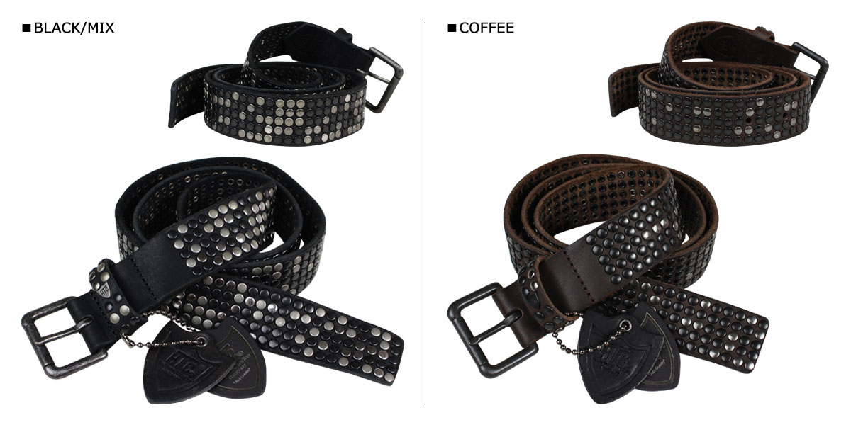 HTC attie she belt studded belt leather belt genuine leather hand made in Italy mens [9/5 new in stock]