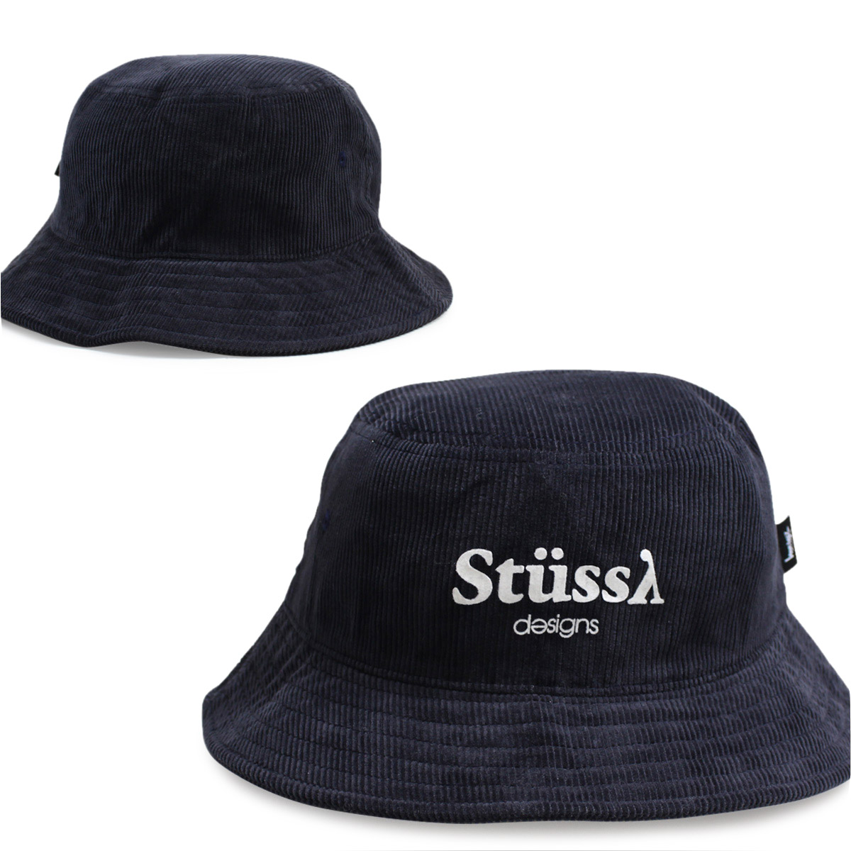 WOMEN STUSSY Stussy women Hat hats bucket Hat STUSSY DESIGNS BUCKET HAT  Navy women s b6ea2117c15