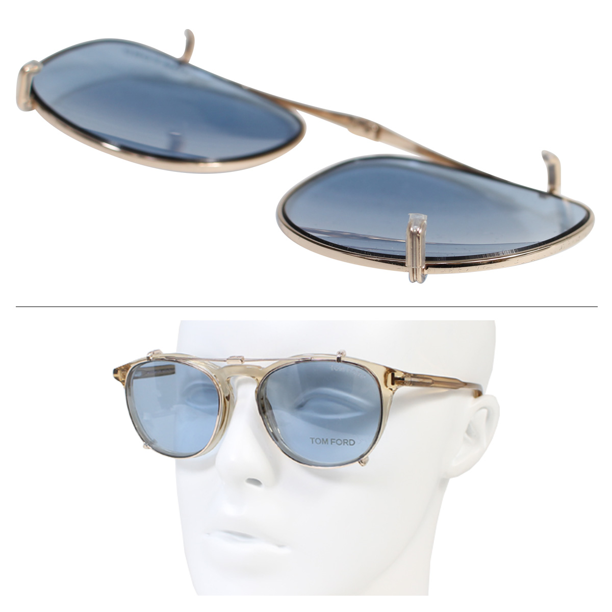 524a3dad2d Tom Ford sunglasses mens Womens TOM FORD eyewear lens replacement CL METAL  CLIP ON FT5401-CL Italy- 11   22 new in stock