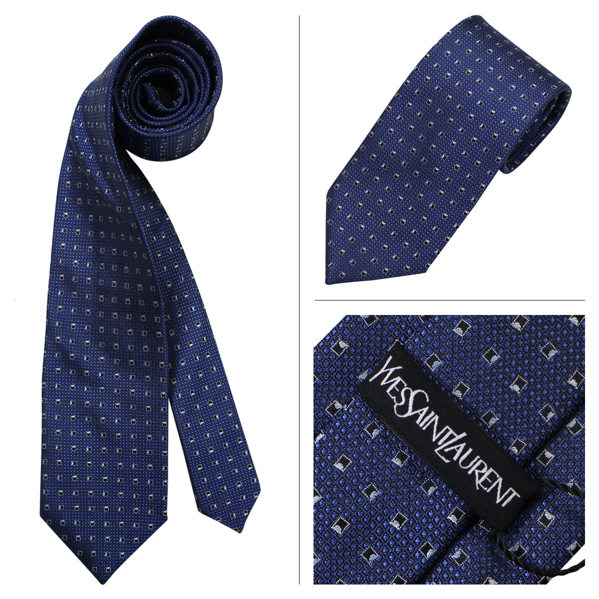 87cce224bd64e Yves Saint Laurent tie silk Yves Saint Laurent gift case with  France-business wedding mens  12   9 new in stock