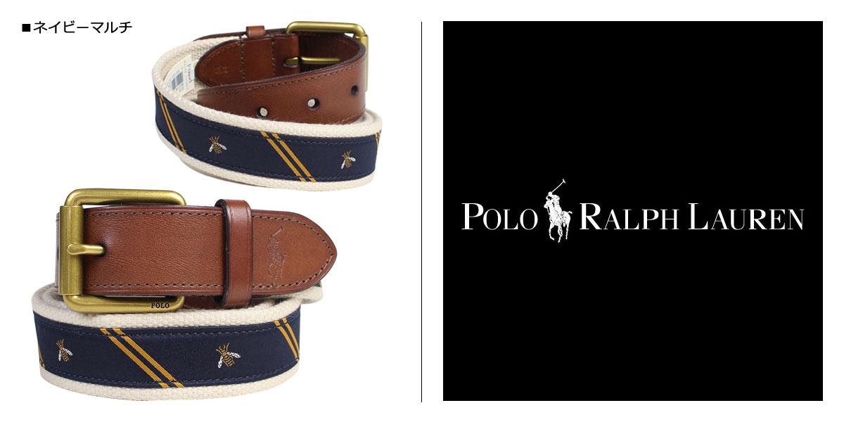 3de88527 POLO RALPH LAUREN belt men Ralph Lauren polo leather belt navy [7/25  Shinnyu load] [177]