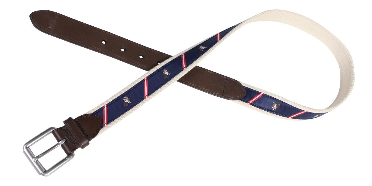 731141d8 POLO RALPH LAUREN belt men Ralph Lauren polo leather belt navy [7/25  Shinnyu load] [177]