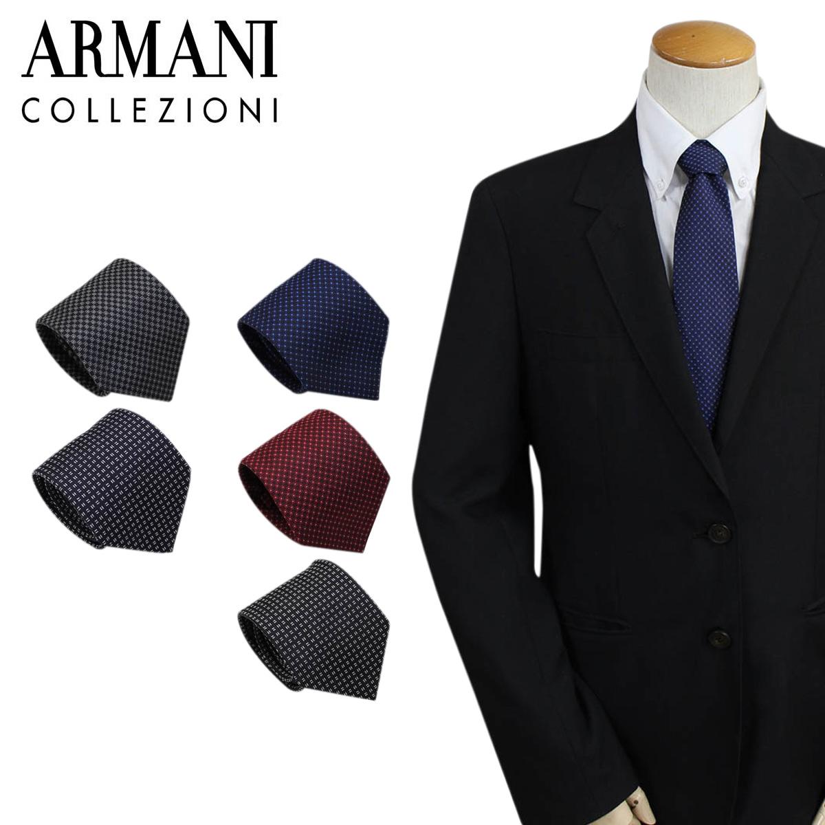 ARMANI COLLEZIONI アルマーニ ネクタイ コレツィオーニ イタリア製 シルク ビジネス 結婚式 メンズ [182]