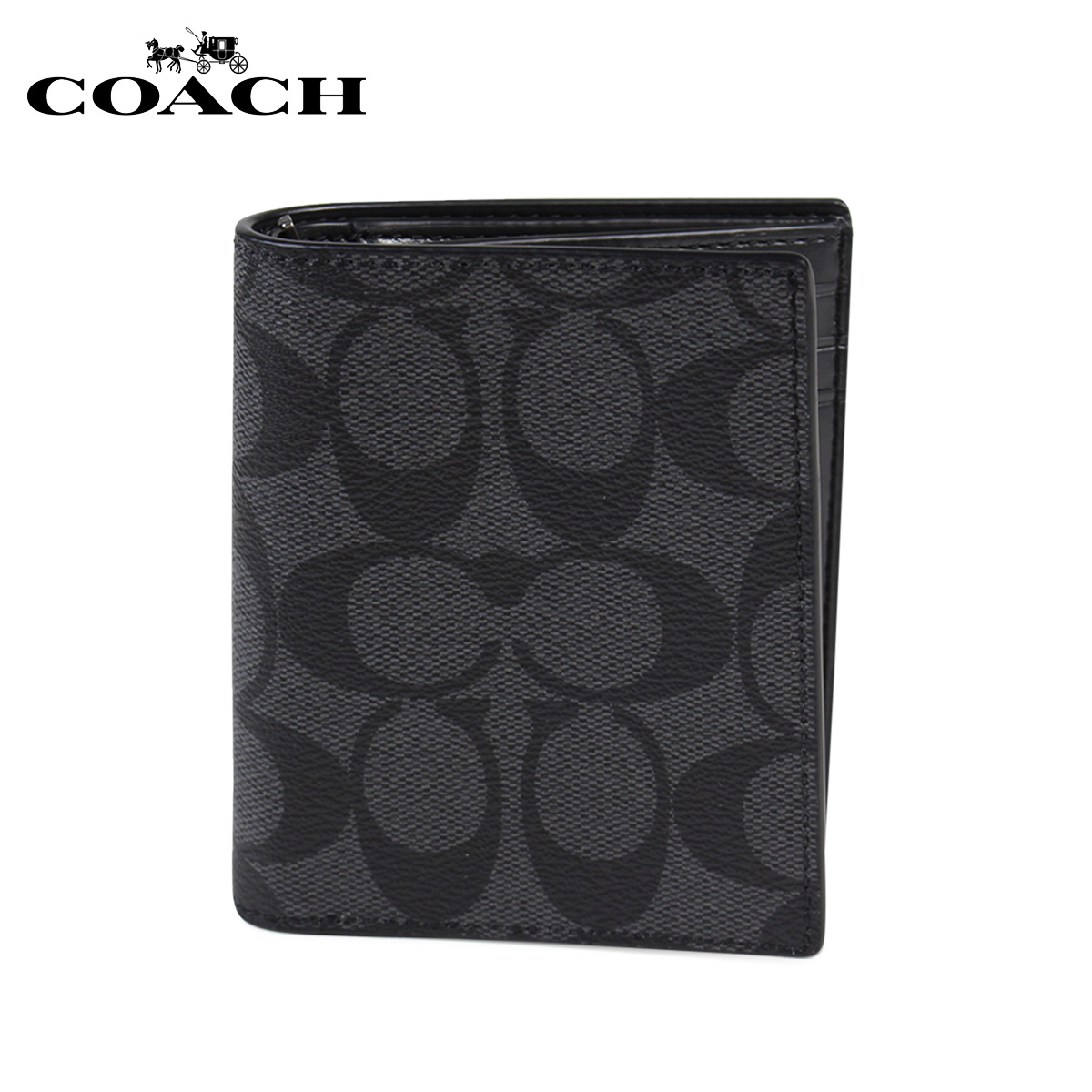 c4ea0d8efaf2 Allsports Coach Wallet Folio Men Leather F11971 Cqbk Gray 10