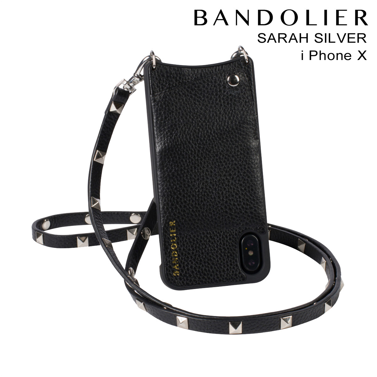 BANDOLIER SARAH SILVER バンドリヤー iPhoneX ケース スマホ アイフォン レザー メンズ レディース [191]