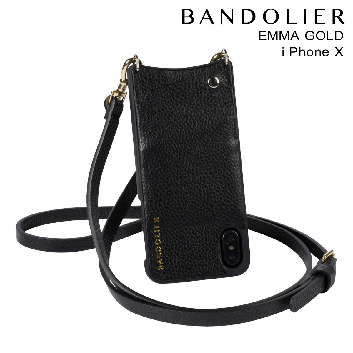 BANDOLIER EMMA GOLD バンドリヤー iPhoneX ケース スマホ アイフォン レザー メンズ レディース [191]