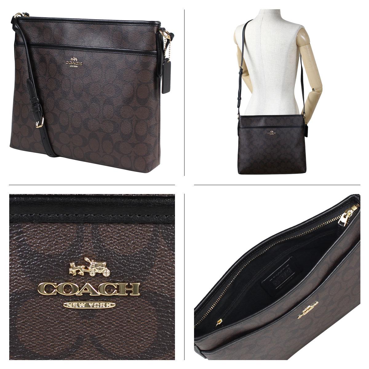 Coach File Bag In Signature Shoulder Lady S F59297 Brown 11 13 Shinnyu Load 1711