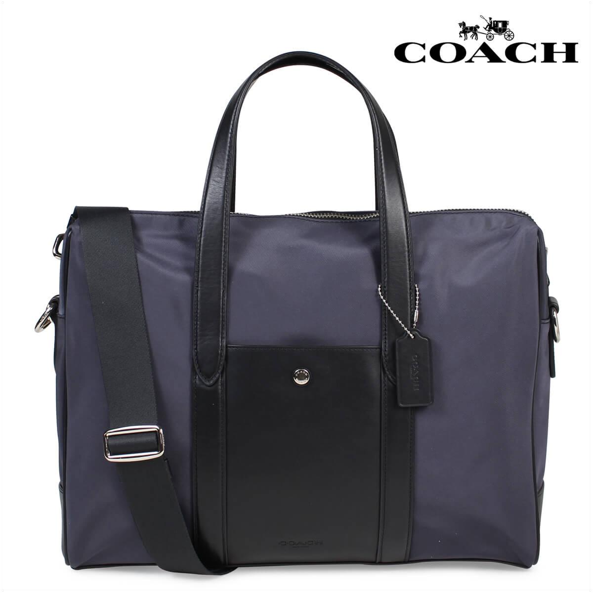 COACH CHARLES SLIM BRIEF コーチ バッグ ビジネスバッグ メンズ ブリーフケース F21087 ネイビー [1712]