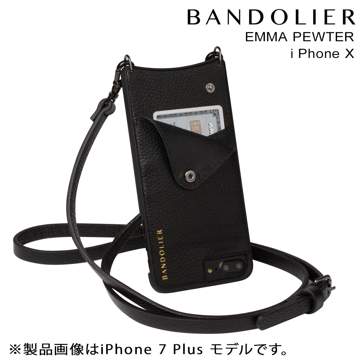 BANDOLIER EMMA PEWTER バンドリヤー iPhoneX ケース スマホ アイフォン レザー メンズ レディース [3/19 再入荷] [191]