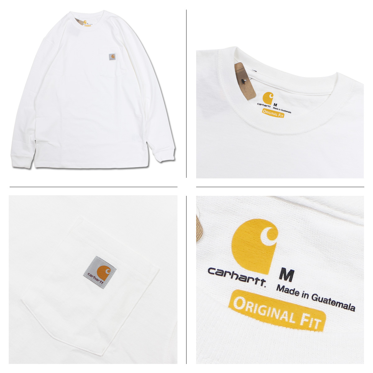 9ebd120bfd8 carhartt WORKER POCKET LS T-SHIRTS car heart T-shirt men long sleeves Ron T  K126  3 9 Shinnyu load   183