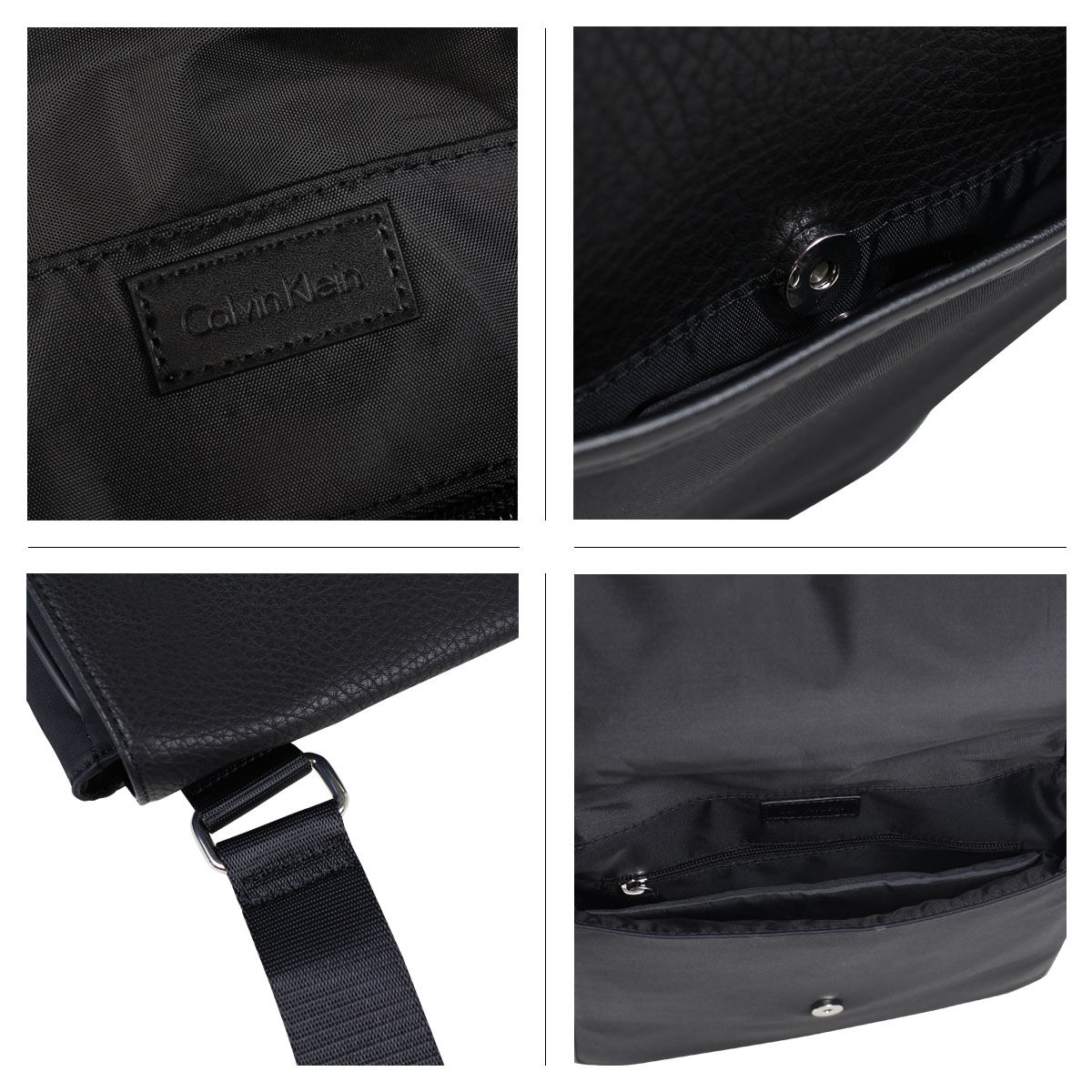 Calvin Klein COTTON NYLON REPORTER Calvin Klein bag men shoulder bag black  75026796  2 19 Shinnyu load   182  161c6998c4