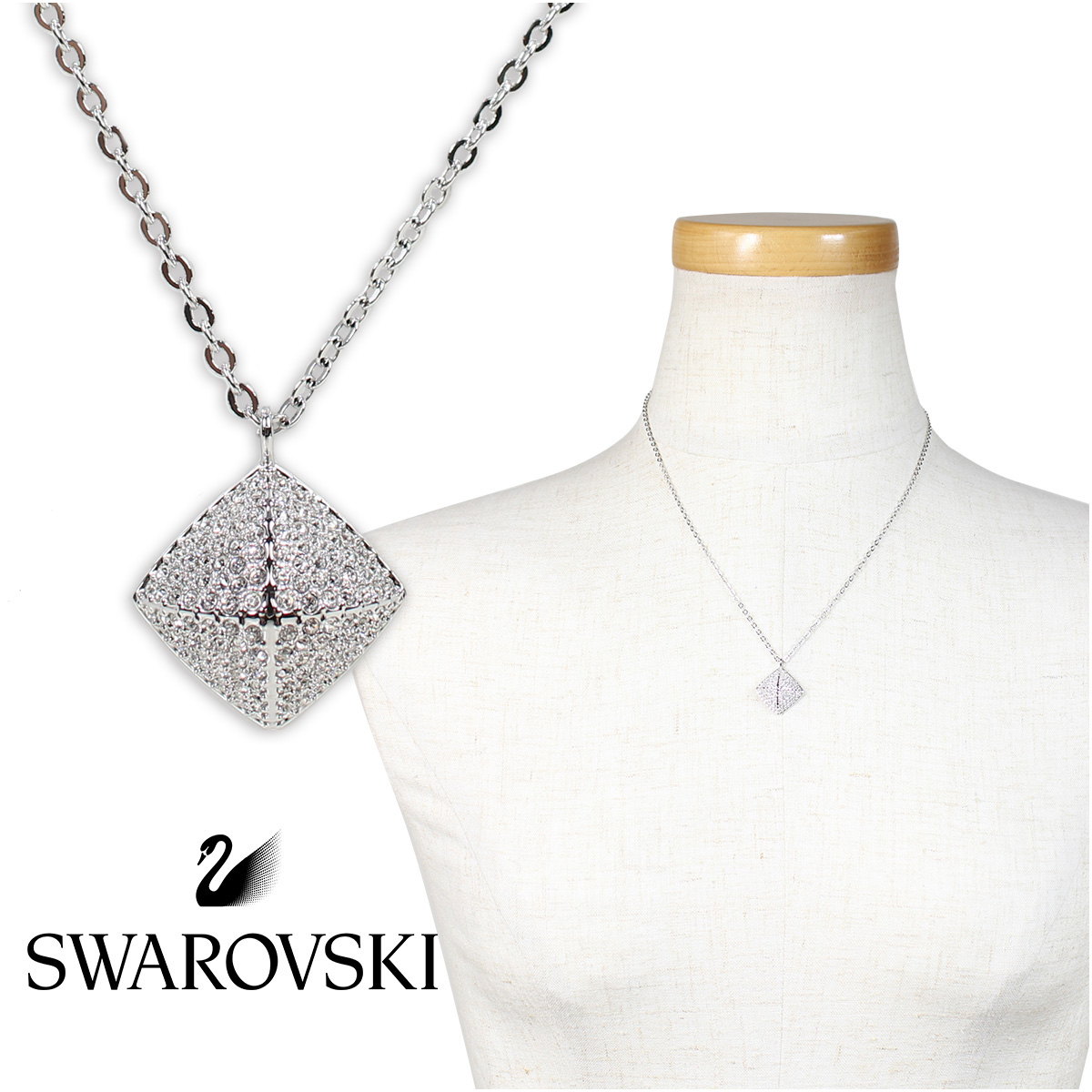SWAROVSKI TACTIC スワロフスキー ネックレス レディース シルバー 5017069