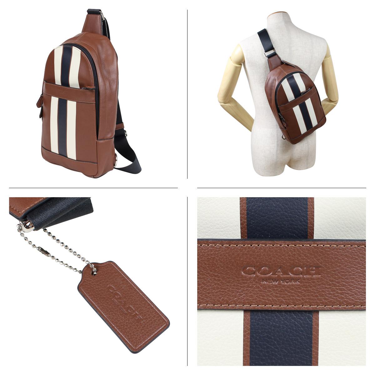 Coach F72226 Bag Shoulder Body Men Leather Brown 5 11 Shinnyu Load 185