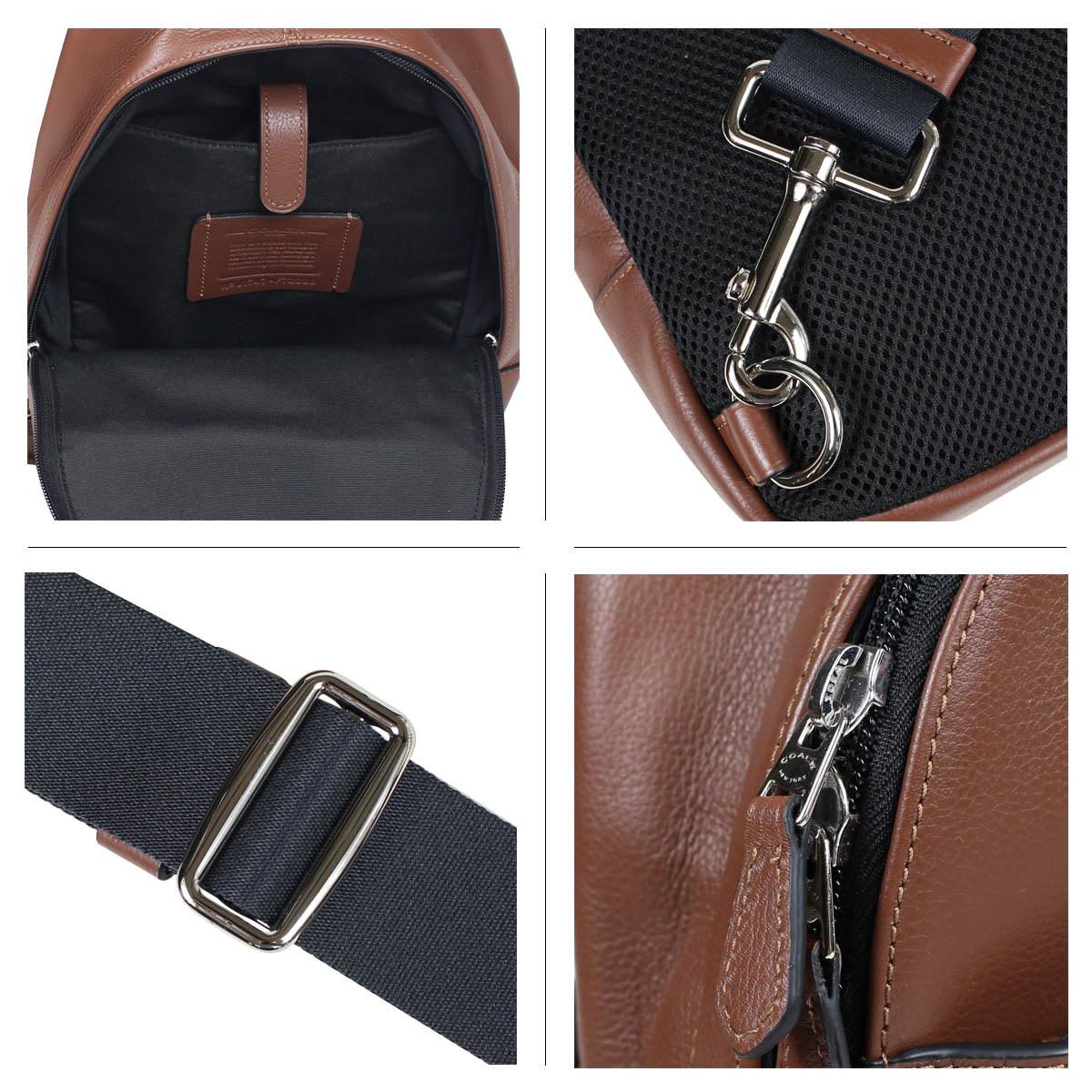 e01b6724efb35 ... COACH F72226 coach bag shoulder bag body bag men leather brown [5/11  Shinnyu