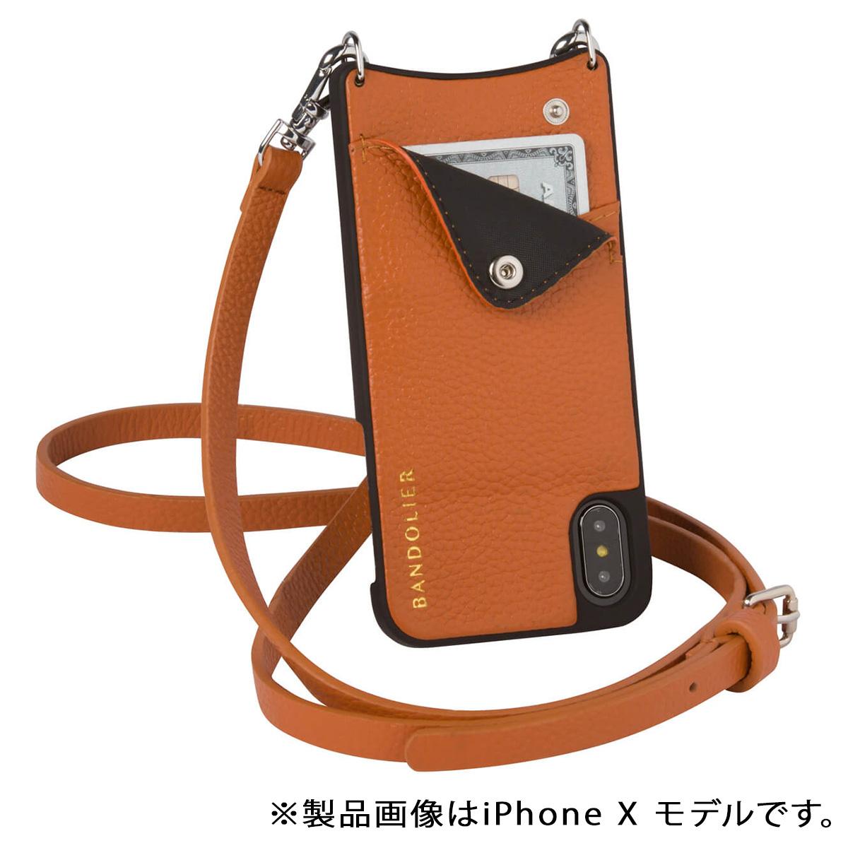 BANDOLIER EMMA COGNAC バンドリヤー iPhone8 iPhone7 7Plus 6s ケース スマホ アイフォン プラス メンズ レディース ブラウン [185] 【決算セール 返品不可】
