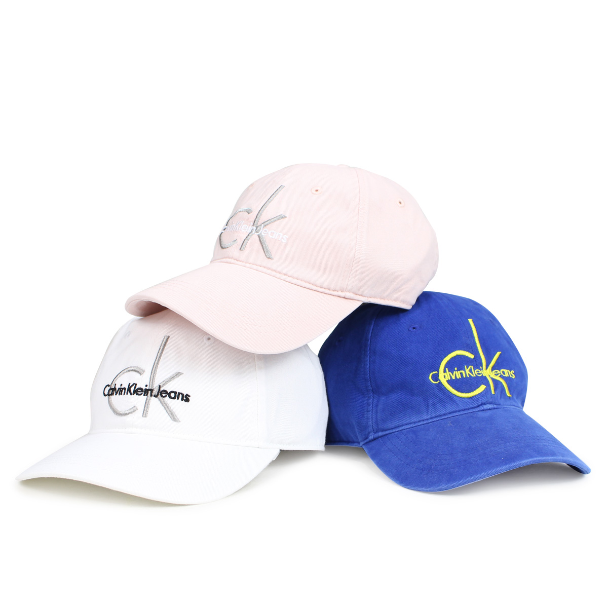 6281b5a097b Calvin Klein Jeans EMBROIDERED HERITAGE LOGO Calvin Klein jeans cap hat men  gap Dis CAP white pink  7 13 Shinnyu load   187