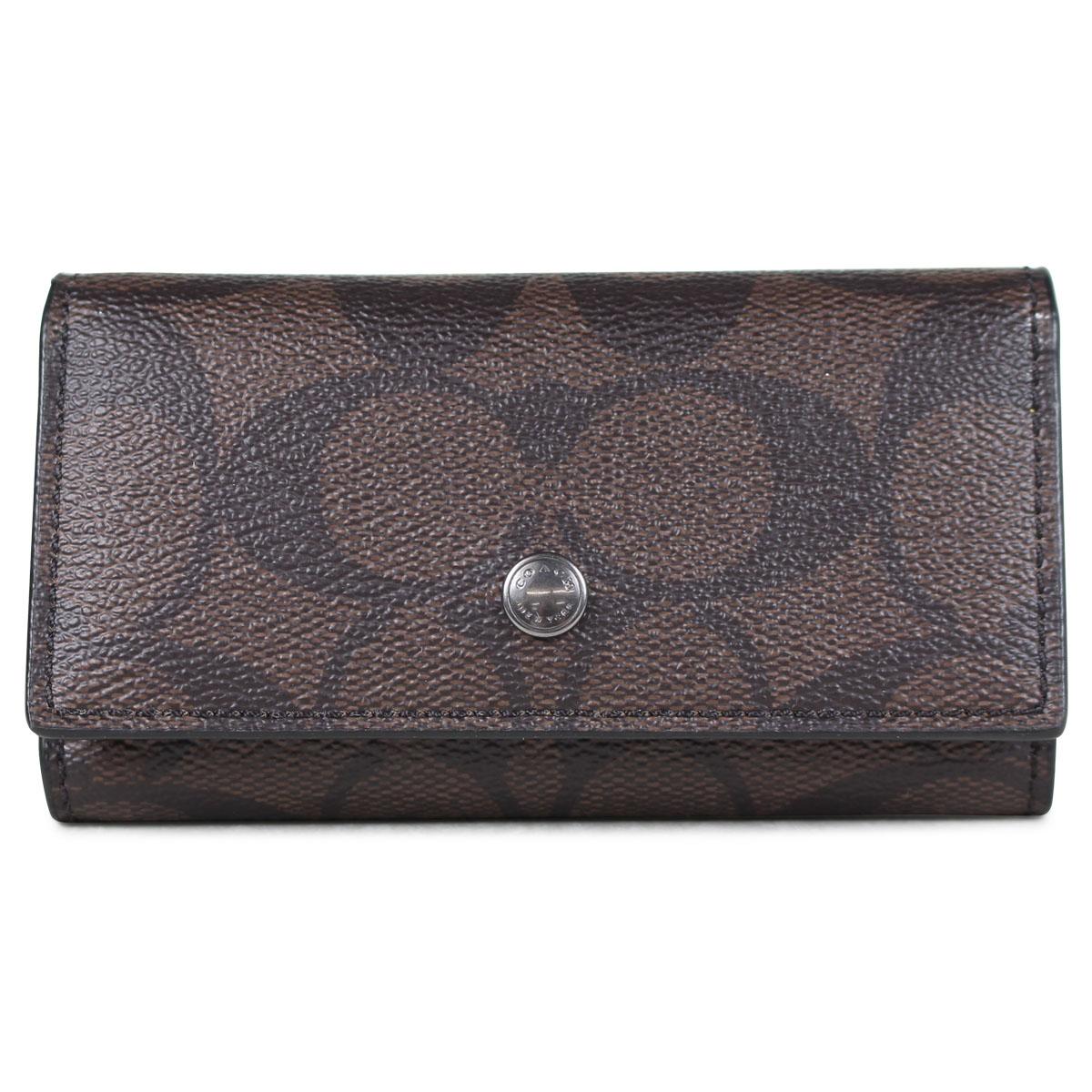 51908dc2 COACH F26104 coach key case men gap Dis leather brown [7/10 Shinnyu load]  [187]