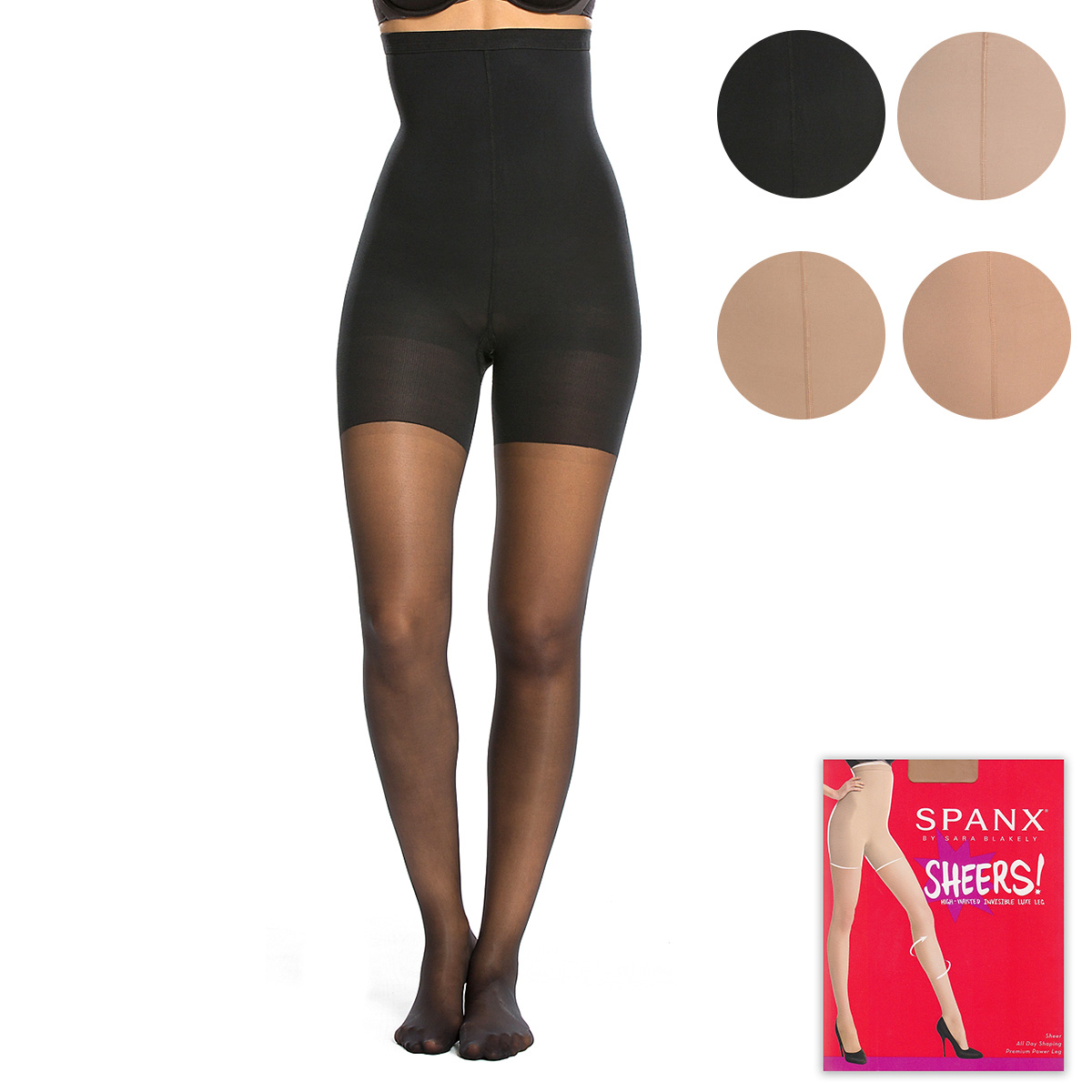085fba3218e SPANX LUXE LEG HIGH-WAISTED MID-THIGH SHAPING SHEERS flats revision  underwear girdle shorts ...