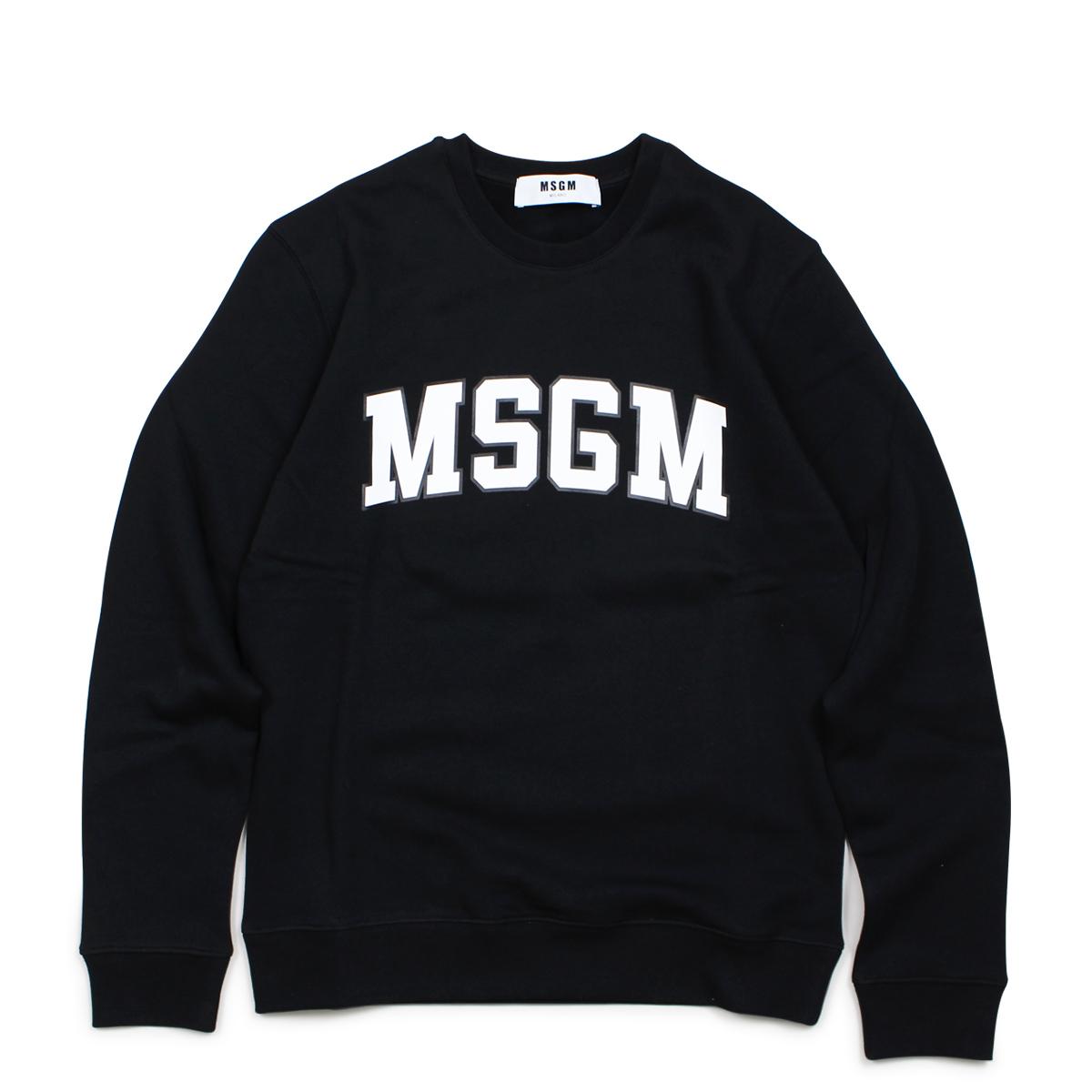 MSGM LONG SLEEVED SHIRTS トレーナー スウェット レディース エムエスジーエム ブラック 2541MDM163 184799