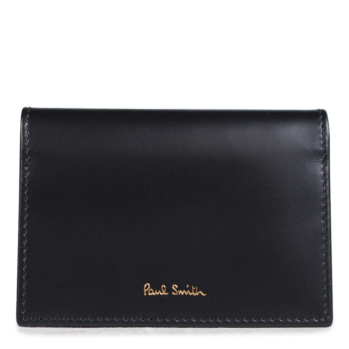Paul Smith FOLD OVER CREDIT CARD CASE ポールスミス 名刺入れ メンズ カードケース 4776 W761A 79 ブラック