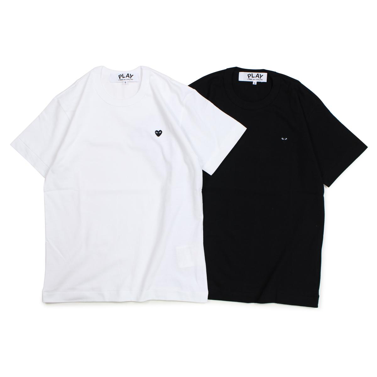 PLAY COMME des GARCONS BLACK HEART T-SHIRT コムデギャルソン Tシャツ 半袖 メンズ ブラック ホワイト AZT202 [10/3 新入荷] [1810]