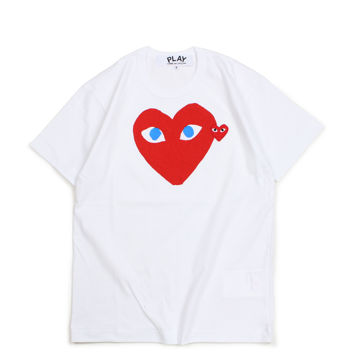 PLAY COMME des GARCONS RED HEART T-SHIRT コムデギャルソン Tシャツ 半袖 メンズ ホワイト AZT086 [10/3 新入荷] [1810]