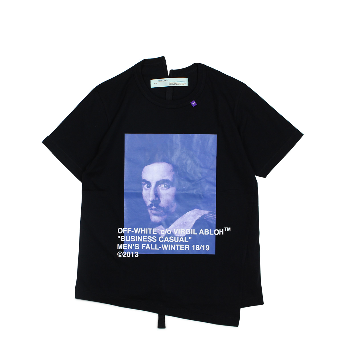 d2ae98bde60 Off-white BERNINI PRINT T-SHIRTS off-white T-shirt short sleeves men black  OMAA032 185011 [11/19 Shinnyu load] [1811]