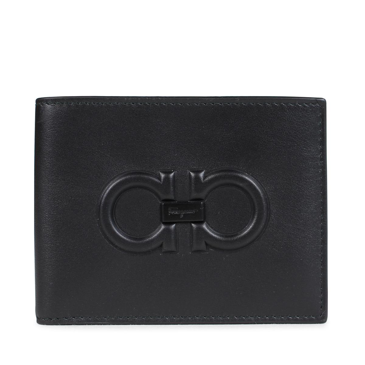 Salvatore Ferragamo FIRENZE LOGO WALLET Ferragamo wallet men folio black  66A248  10 23 Shinnyu load   1810  8f3ad52bac