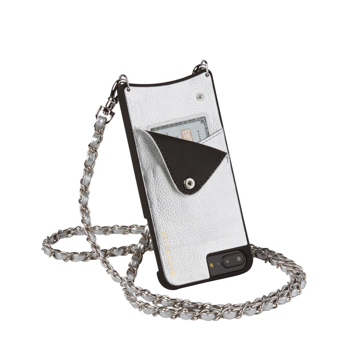 BANDOLIER iPhone8Plus iPhone7Plus 6sPlus LUCY RICH SILVER バンドリヤー ケース スマホ アイフォン プラス メンズ レディース [1811]