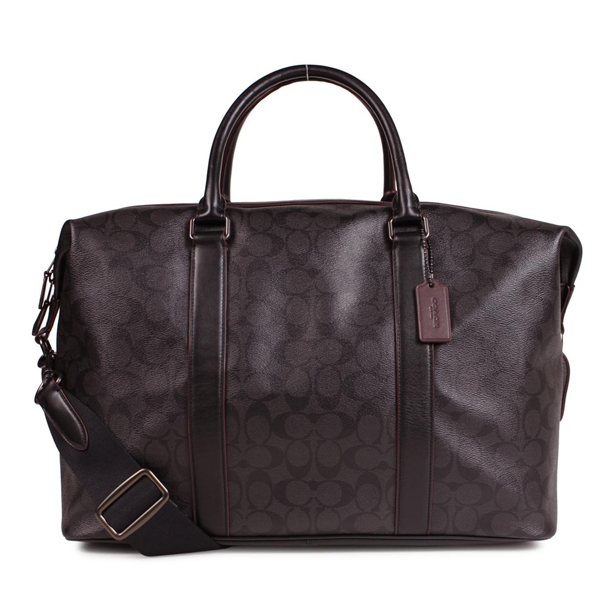 7e55ec3e COACH 2WAY F23207 coach bag Boston bag shoulder men signature dark brown  [192]