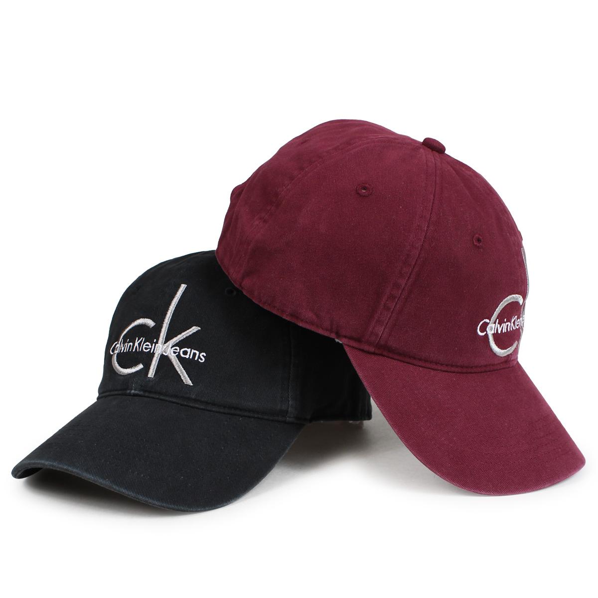 ALLSPORTS  Calvin Klein Jeans BASEBALL DAD CAP Calvin Klein jeans cap hat  men gap Dis black burgundy 4500  12 20 Shinnyu load   da7e9998217