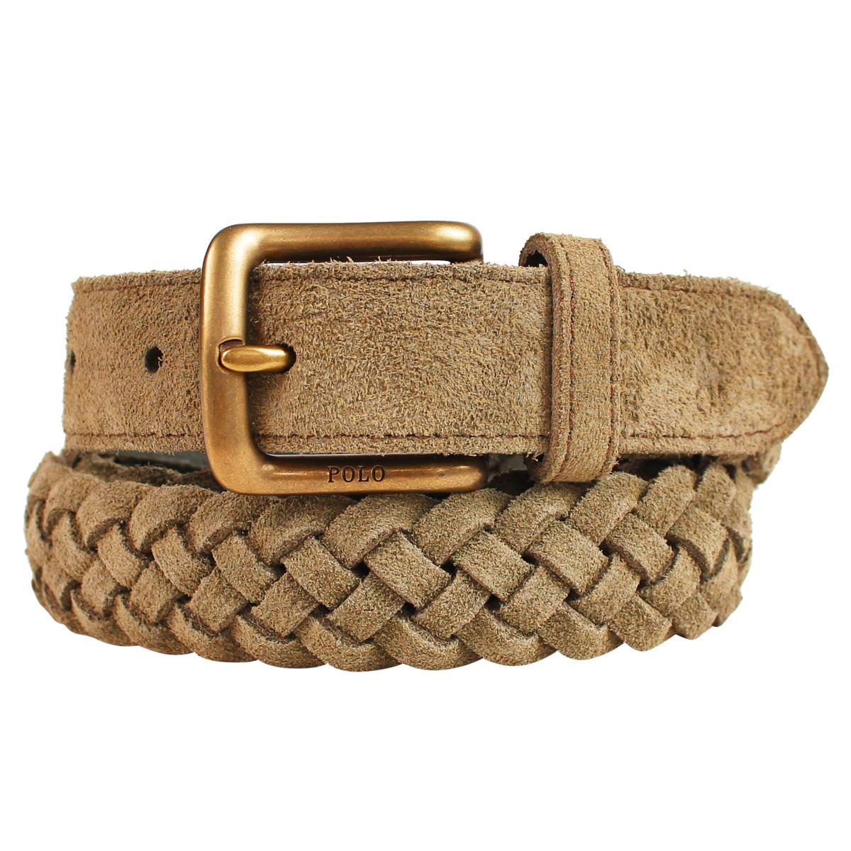 71dd5b84e085a POLO RALPH LAUREN BRAIDED SUEDE BELT polo Ralph Lauren belt leather belt men  genuine leather brown 405710683002  1 15 Shinnyu load   191