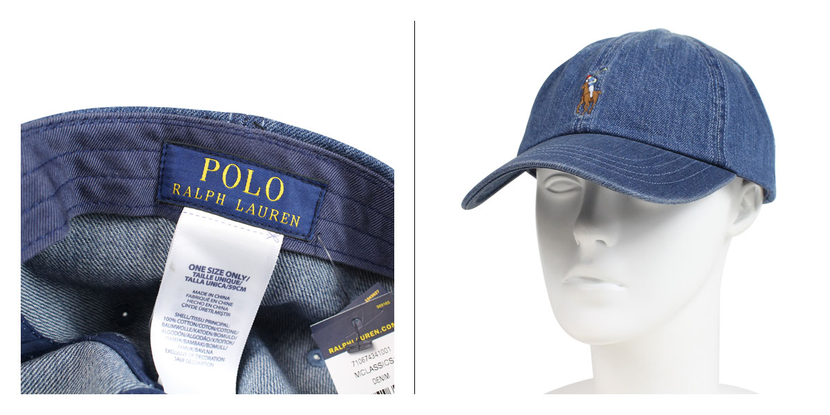 POLO RALPH LAUREN DENIM BASEBALL CAP polo Ralph Lauren cap hat men gap Dis  cotton denim 710674341001  191  f3de023743aa