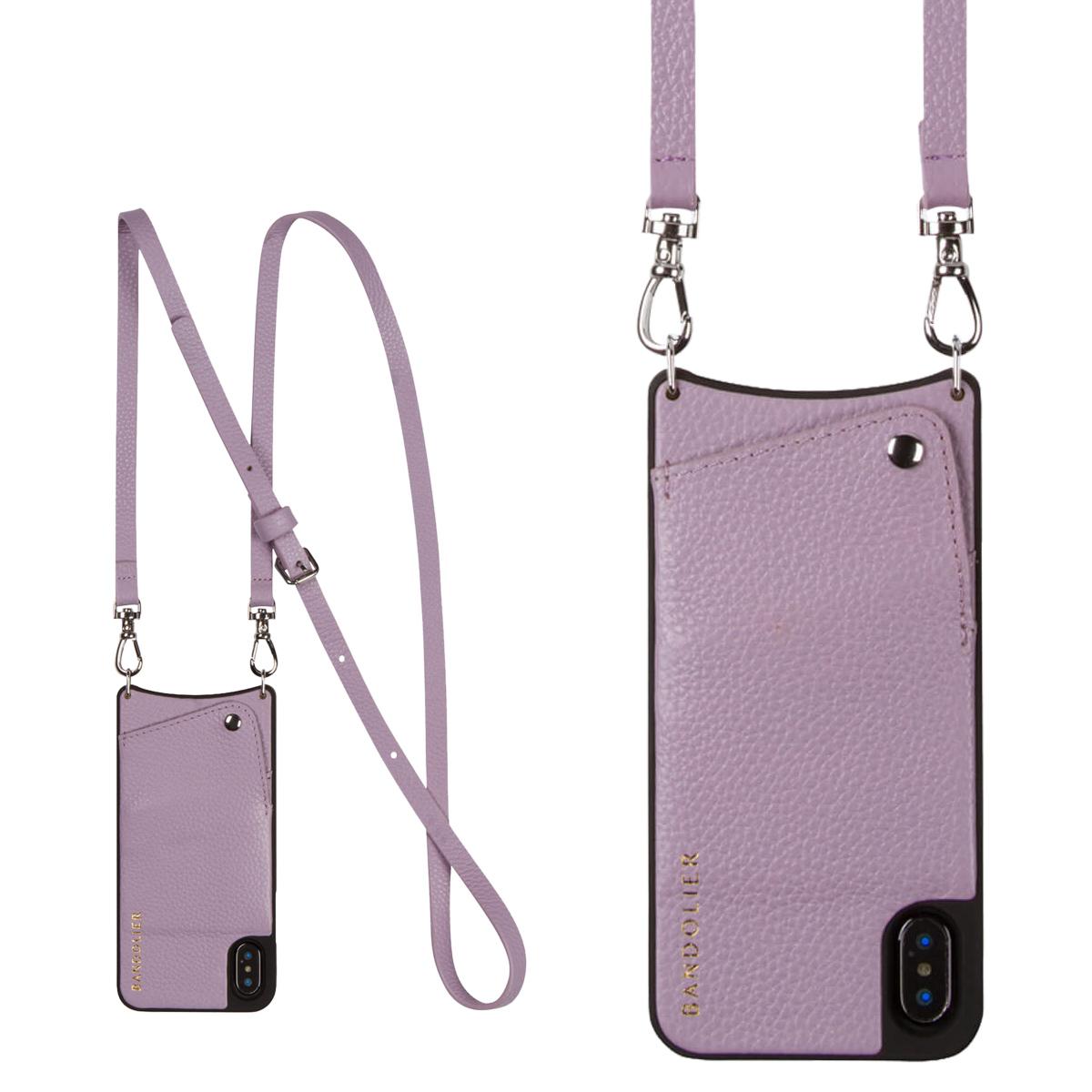 BANDOLIER iPhone XS MAX EMMA LILAC バンドリヤー ケース ショルダー スマホ アイフォン レザー メンズ レディース ライラック 10EMM1001 [4/18 再入荷][194]