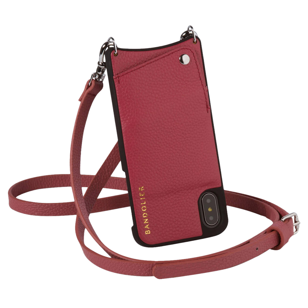 BANDOLIER iPhone XR EMMA MAGENTA RED バンドリヤー ケース ショルダー スマホ アイフォン レザー メンズ レディース マゼンタ レッド 10EMM1001 [4/18 再入荷][194]