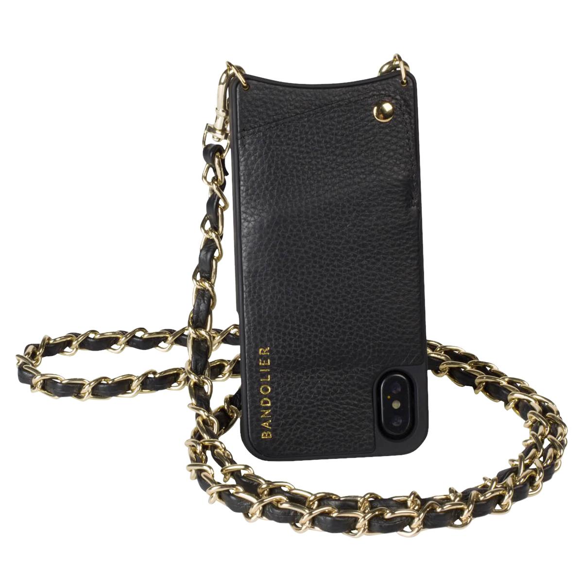 BANDOLIER iPhone XS MAX LUCY GOLD バンドリヤー ケース ショルダー スマホ アイフォン レザー メンズ レディース ブラック 10LCY1001
