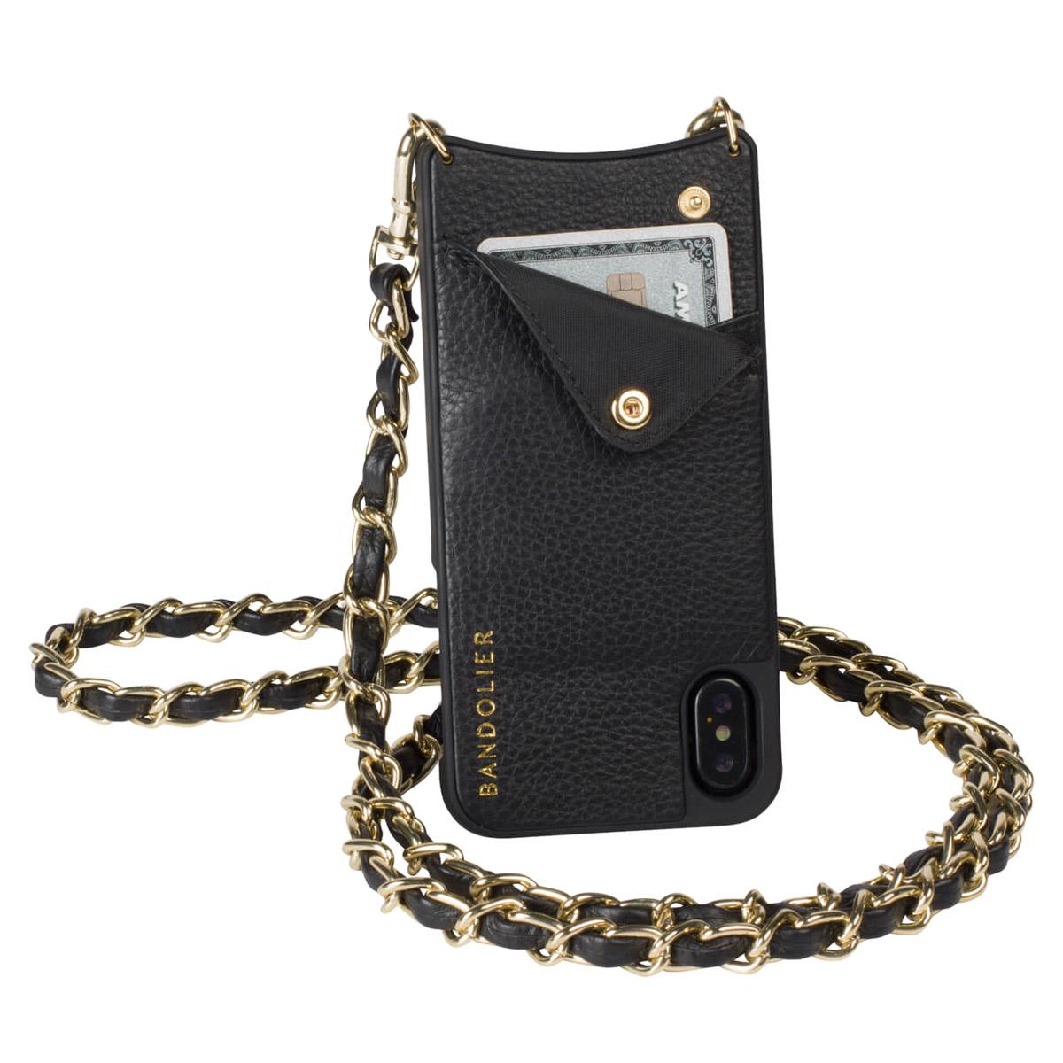 BANDOLIER iPhone XR LUCY GOLD バンドリヤー ケース ショルダー スマホ アイフォン レザー メンズ レディース ブラック 10LCY1001