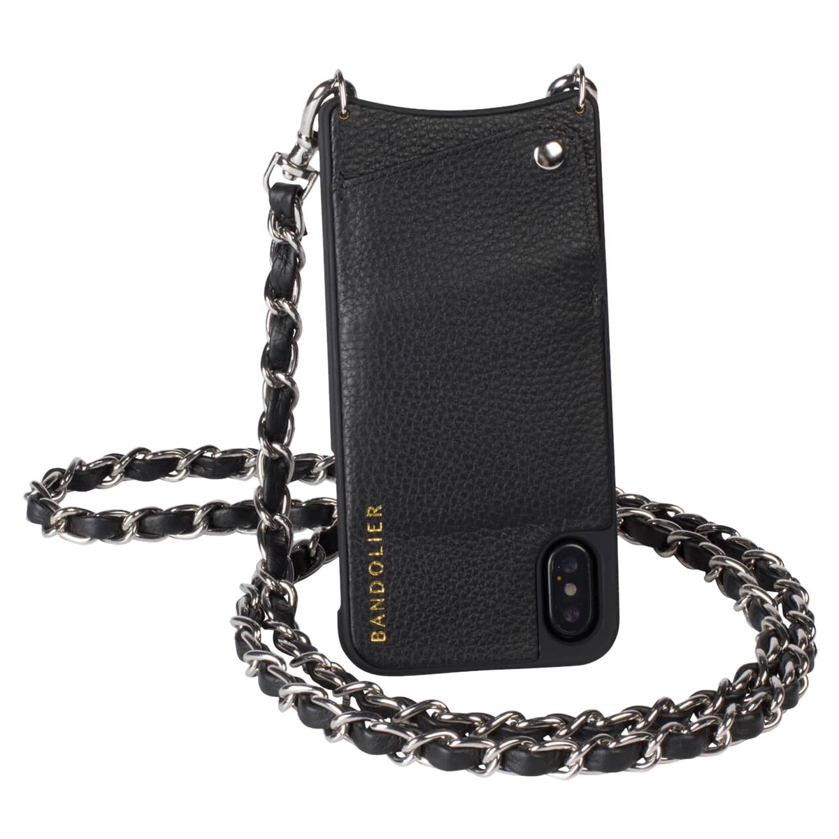 BANDOLIER iPhone XS MAX LUCY PEWTER バンドリヤー ケース ショルダー スマホ アイフォン レザー メンズ レディース ブラック 10LCY1001 [191]