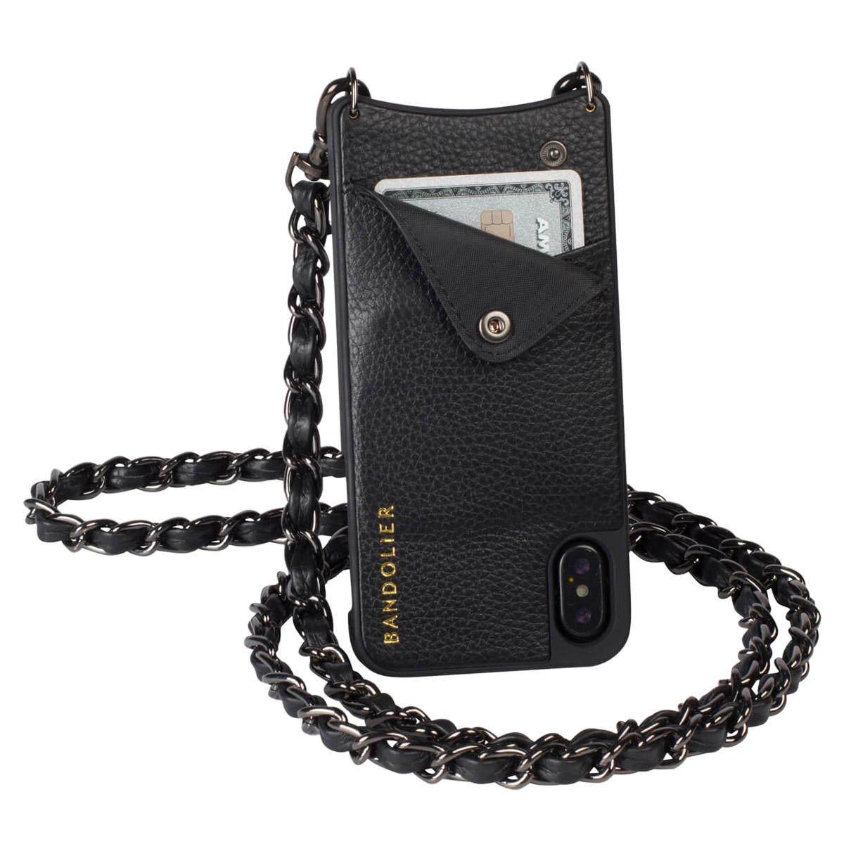 BANDOLIER iPhone XR LUCY PEWTER バンドリヤー ケース ショルダー スマホ アイフォン レザー メンズ レディース ブラック 10LCY1001 [3/18 再入荷] [193]
