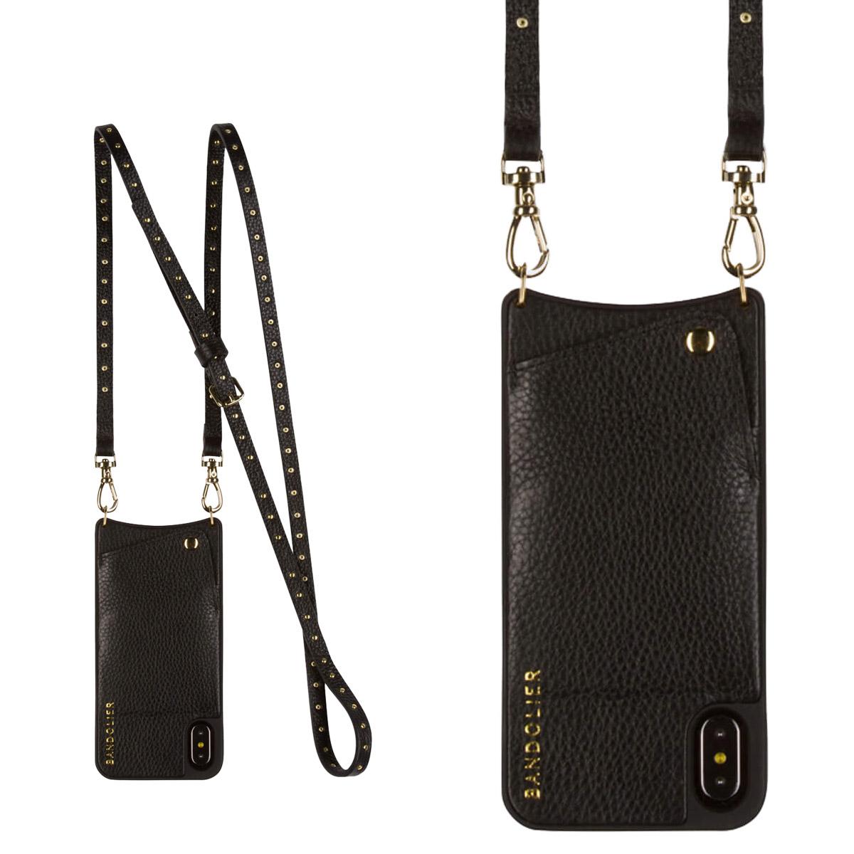 BANDOLIER iPhone XR NICOLE GOLD バンドリヤー ケース ショルダー スマホ アイフォン レザー メンズ レディース ブラック 10NIC1001