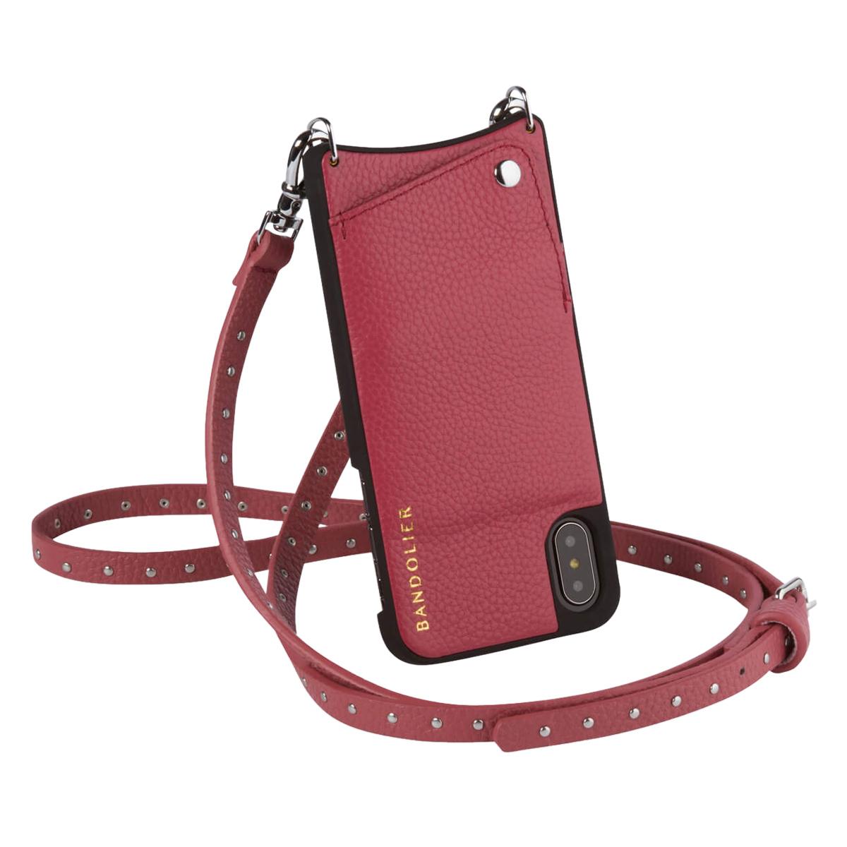 BANDOLIER NICOLE MAGENTA RED バンドリヤー iPhone XS X ケース ショルダー スマホ アイフォン レザー メンズ レディース マゼンタレッド 10NIC1001[192]